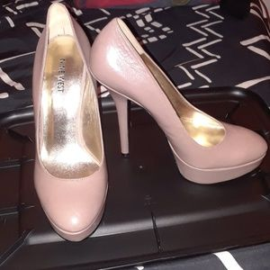 Nine west dark-nude pumps